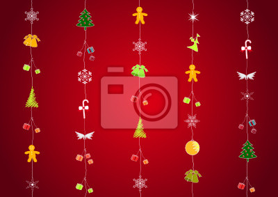 Vinilo Fondo de la Navidad