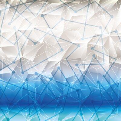 Vinilo Fondo de pantalla o fondo de geometría