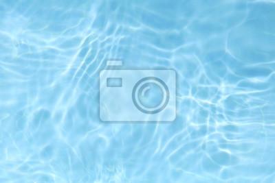 Vinilo Fondo de textura de agua azul ondulado