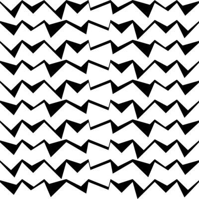 Vinilo Fondo de vector decorativo en blanco y negro sin fisuras con patrón geométrico abstracto