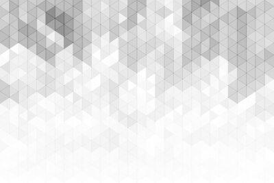 Vinilo Fondo geométrico abstracto con formas de triángulo de tono de color gris y blanco.