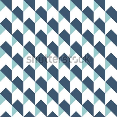 Vinilo Fondo geométrico abstracto de patrones sin fisuras, fondo geométrico, patrón de flechas, patrón de chevron