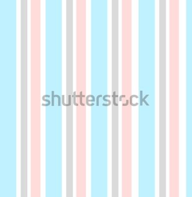 Vinilo Fondo geométrico abstracto del vector. Rayas verticales. Impresión para diseño de interiores y tela