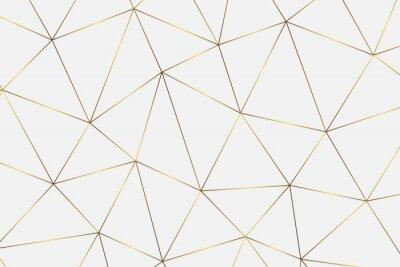 Vinilo Fondo geométrico dorado