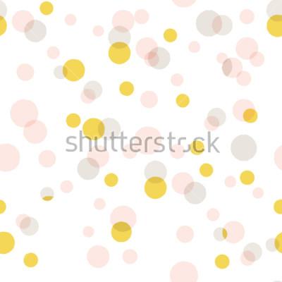 Vinilo Fondo grande moderno del confeti del vector abstracto. Patrón de puntos de colores sin fisuras
