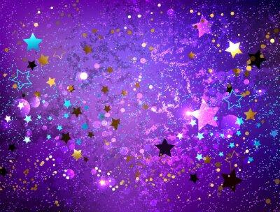 Vinilo Fondo morado con estrellas