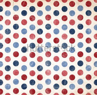 Vinilo Fondo patriótico - puntos rojos y azules