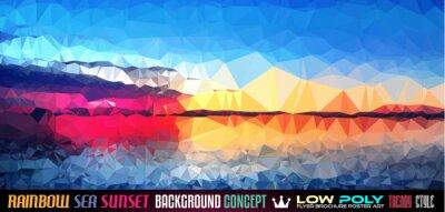 Vinilo Fondo Poli TSEA Sunset Arte Baja para su poligonal volante