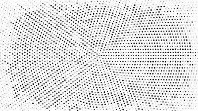 Vinilo Fondo punteado de semitono. Patrón de vector de efecto de semitono. Puntos de círculo aislados en el fondo blanco.
