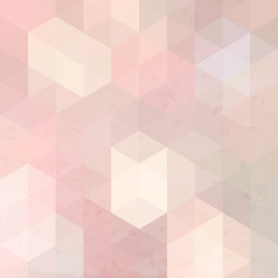 Vinilo Fondo retro geométrico con la textura del grunge