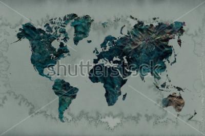 Vinilo fondo vintage mapa del mundo