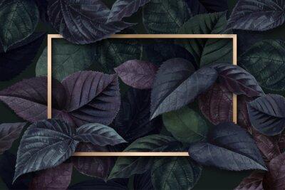 Vinilo Forest leaf frame