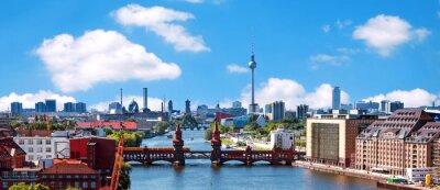 Vinilo foto aérea skyline berlin