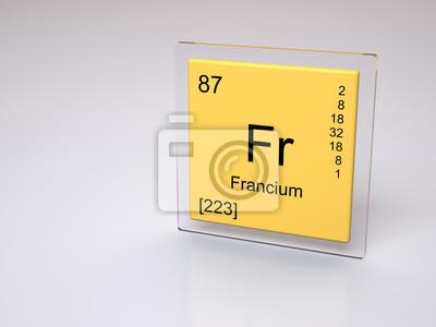Francio smbolo p elemento qumico de la tabla peridica vinilo francio smbolo p elemento qumico de la tabla peridica urtaz Choice Image