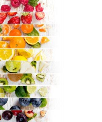 Vinilo Franjas de mezcla de frutas