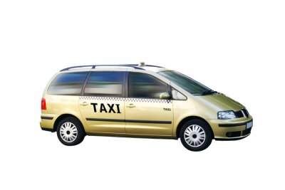 Vinilo Freigestellt Taxi Bus