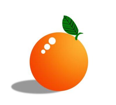 Vinilo Fruta de naranja aislada