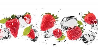 Vinilo Fruta hielo en el fondo blanco