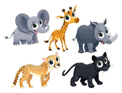 Vinilo Funny african animals