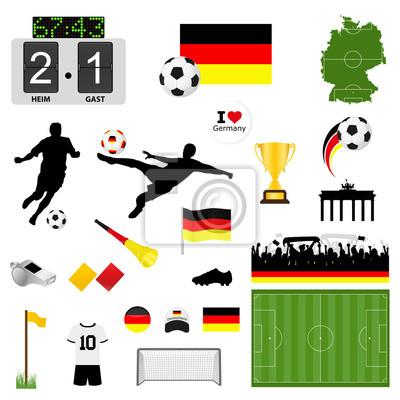 Vinilo Fútbol Set Alemania