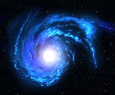 Vinilo Galaxia espiral en el espacio profundo con el fondo del campo de estrella.
