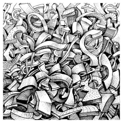 Vinilo Garabatos abstractos