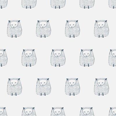 Vinilo Gatos patrón transparente. Fondo del animal. Ilustración del vector