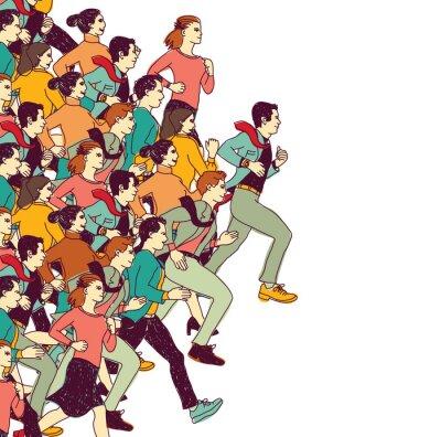 Vinilo Gente de negocios gran grupo de colores de la competencia