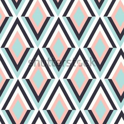 Vinilo geometría zig zag vector patrón adornos étnicos sin costura. Fondo abstracto - líneas de colores. Ilustración vectorial