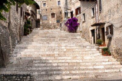 Vinilo glimpse of the old village of sermoneta