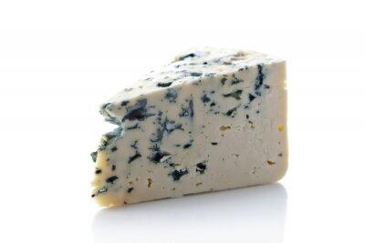 Vinilo Gorgonzola queso aislado en blanco