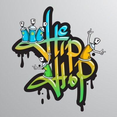 Vinilo Graffiti caracteres de palabra impresa
