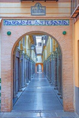 Vinilo Granada - El mercado de Alcaiceria en la mañana