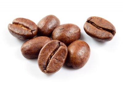 Vinilo Granos de café aislados