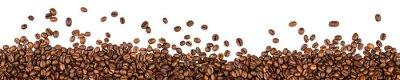 Vinilo Granos de café aislados en fondo blanco