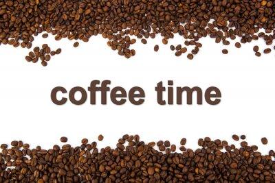 Vinilo granos de café tostado con el título