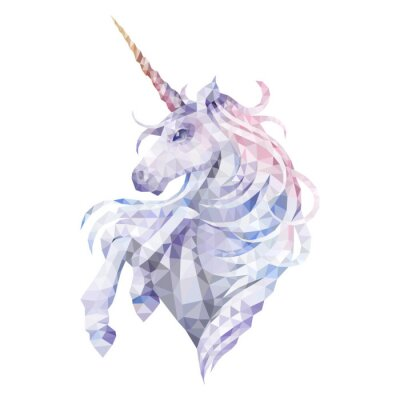 Vinilo Graphic low poly unicorn