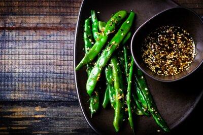 Vinilo green beans in sesame Asian sauce