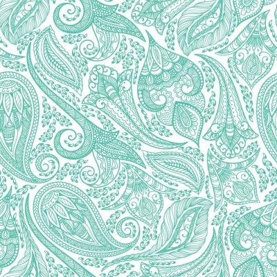 Vinilo Green Cashmere Seamless Pattern