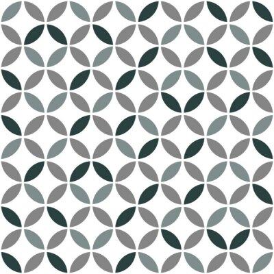 Vinilo Gris Geométrico Retro Seamless Pattern