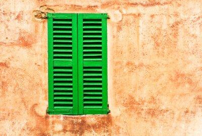 Vinilo Grüne Fensterläden Casa Wand Mediterran Wohnen
