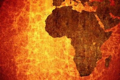 Vinilo Grunge de la vendimia se rascó África mapa de fondo.