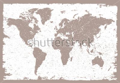 Vinilo Grunge world map.Vintage map of the world.