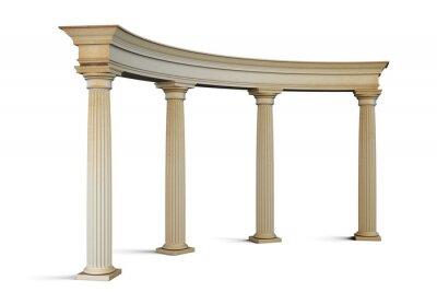 Vinilo Grupo de entrada con columnas en el estilo clásico en un blanco. 3