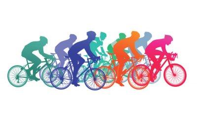 Vinilo Gruppe von Radfahrer im Fahrradrennen