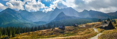 Vinilo Hala Gasienicowa en las montañas Tatra - panorama