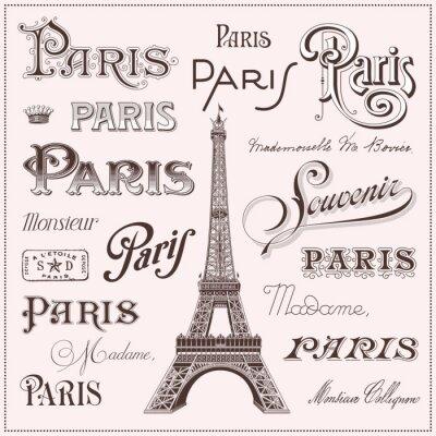 Vinilo hand drawn Paris design elements