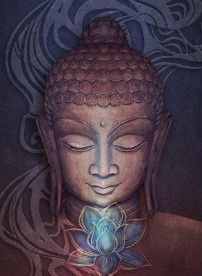 Vinilo Head Smiling Buddha