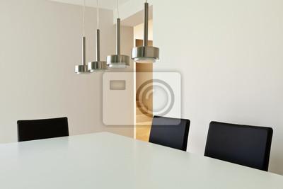 Hermosa casa moderna interior, mesa de comedor vinilos para ...