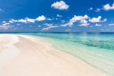 Vinilo Hermosa playa del océano en Maldivas